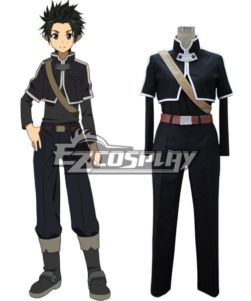 Sword Art Online ALfheim Online Kirito Basic Cosplay Costume None