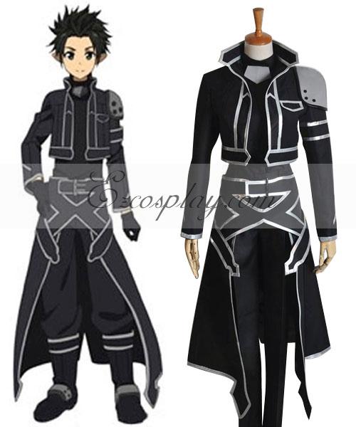 Sword Art Online ALfheim Online Kirito New Cosplay Costume