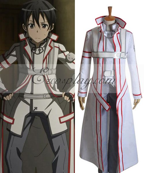 Sword Art Online  White Kirito Cosplay Costume None