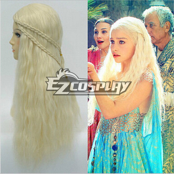 Game of Thrones Mother of Dragons Daenerys Targaryen Cosplay Wig None
