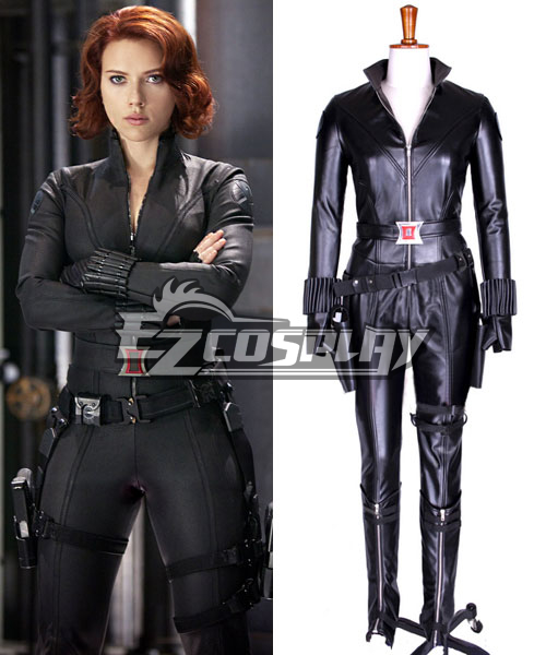 The Avengers Natasha Romanoff Black Widow Leather Cosplay Costume