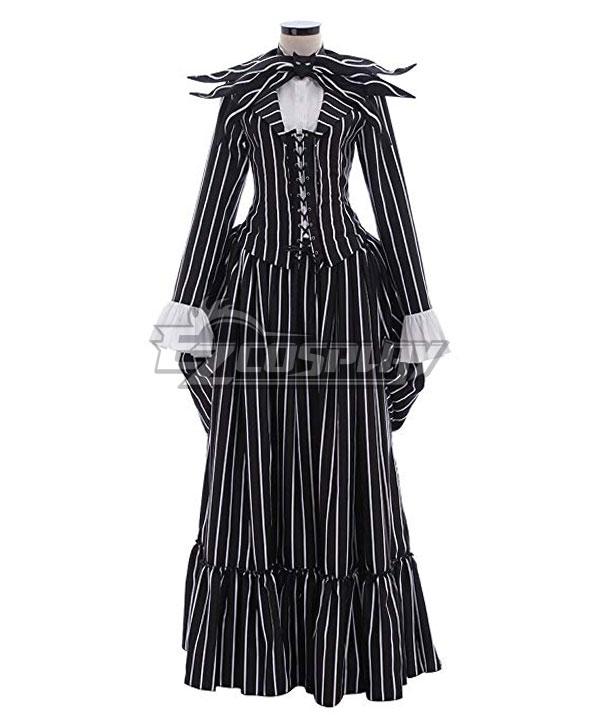 Easy DIY Edwardian Titanic Costumes 1910-1915 The Nightmare Before Christmas Female Jack Skellington Dress Halloween Cosplay Costume $91.99 AT vintagedancer.com
