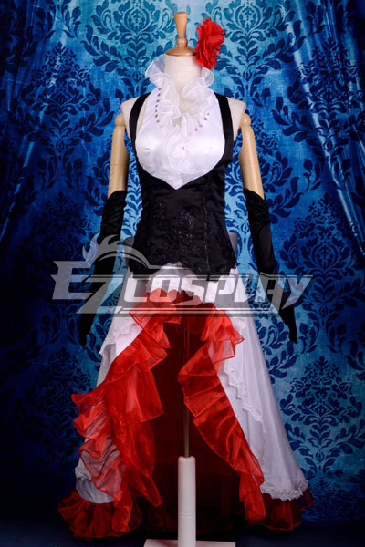 Vocaloid Meiko White Dress Cosplay Costume