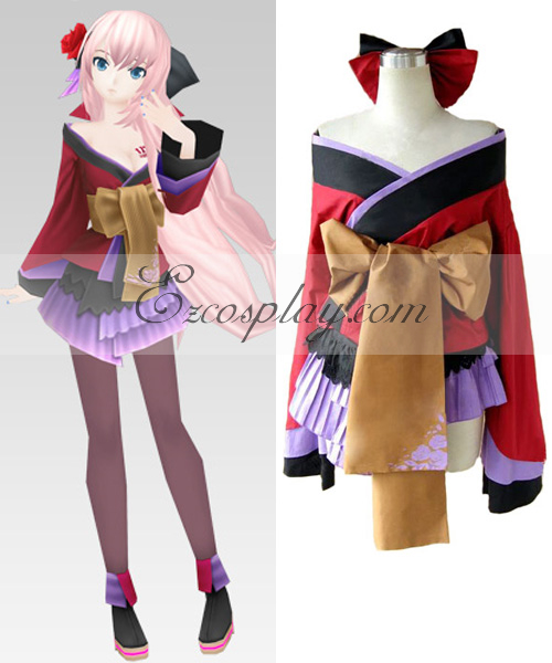 Anime Costumes EVO0053 Vocaloid Project Diva Geisha Luka Cosplay Costume