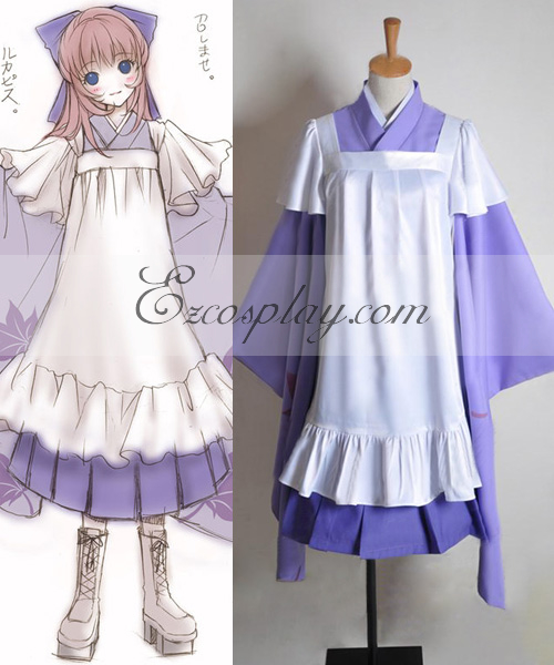 Anime Costumes EVO0047 Vocaloid Thousand Cherry Tree Luka Cosplay Costume