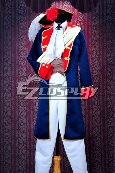 Axis Powers Hetalia Prussia War Uniform Cosplay Costume Deluxe Version