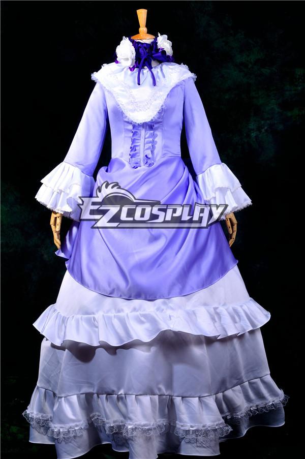 Ruler Gosick Victorique Purple Dress Cosplay Costume-Y258