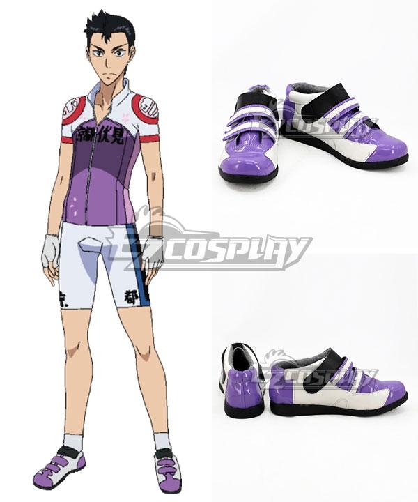Yowamushi Pedal Ishigaki Koutarou Purple White Cosplay Shoes