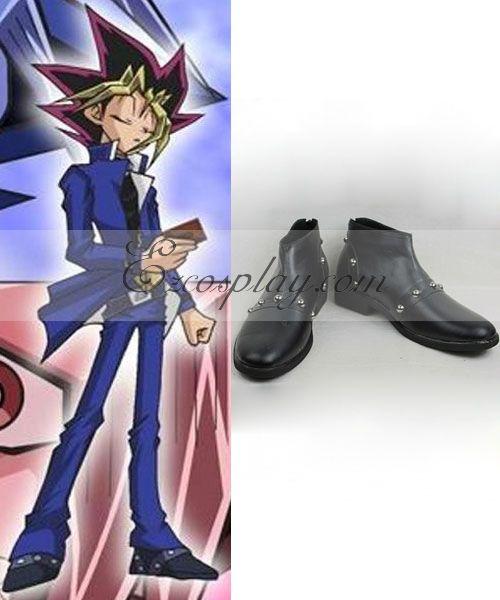 Yu-Gi-Oh!-ONLINE Duel Monsters Yu Gi Oh KONAMI Konam  Mutou Yugi Black Cosplay Shoes