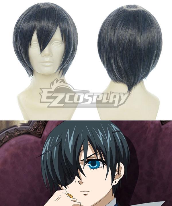 Black Butler Ash Ciel Phantomhive Blue Black Cosplay Wig-001H