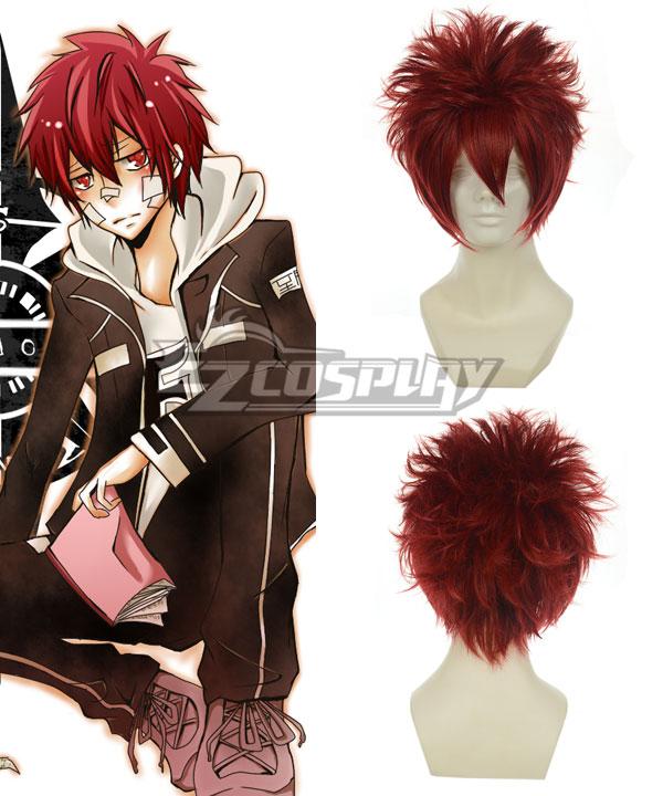 Hitman Reborn Kozato Enma Wine Red Cosplay Wig-011G