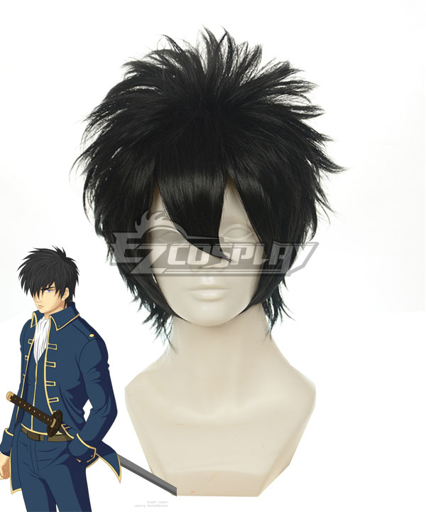 Gintama Hijikata Toushirou Black Cosplay Wig-122A