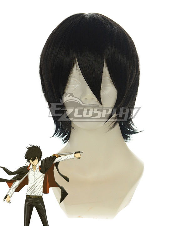 Katekyo Hitman Reborn! Hibari Kyouya Black Cosplay Wig-188E