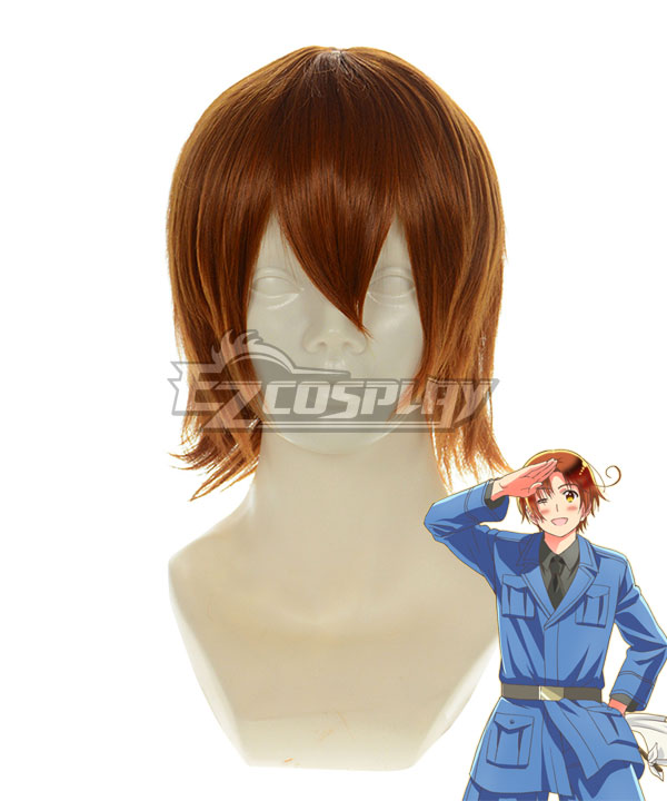 Hetalia Italy Brown Cosplay Wig 188G