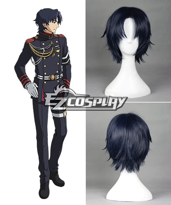 Seraph of the End Owari no Serafu Vampire Reign Guren Ichinose Ichinose Guren Short Dark Blue Cosplay Wig