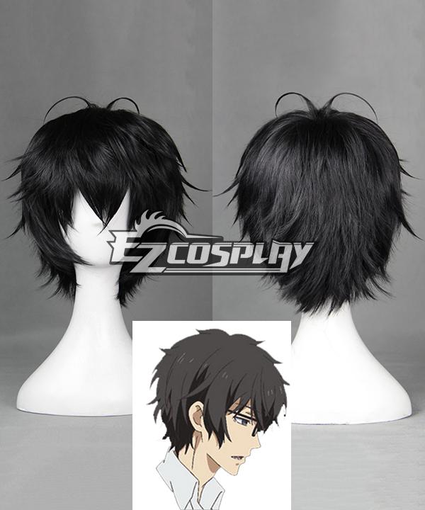 Aoharu x Machinegun Aoharu x Kikanjuu Tooru Yukimura Toy �? Gun Gun Team Black Short Cosplay Wig - 390B