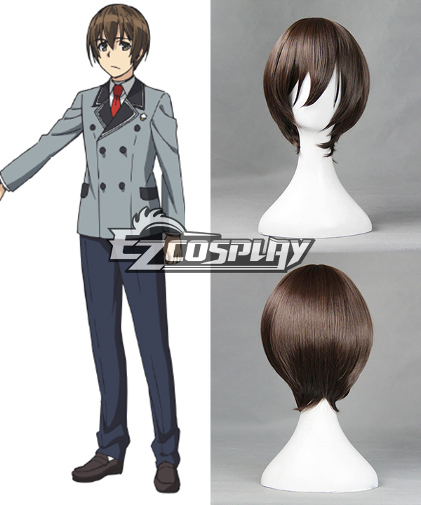 Shimoneta: A Boring World Where the Concept of Dirty Jokes Doesn't Exist Tanukichi Okuma Cosplay Wig - 387A None