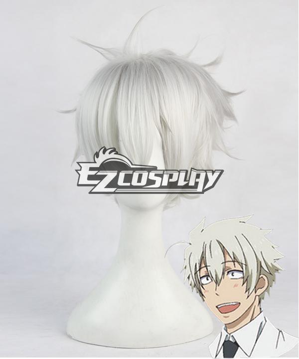 Image of Aoharu x Machinegun Aoharu x Kikanjuu Takatora Fujimoto White Short Cosplay Wig  390C