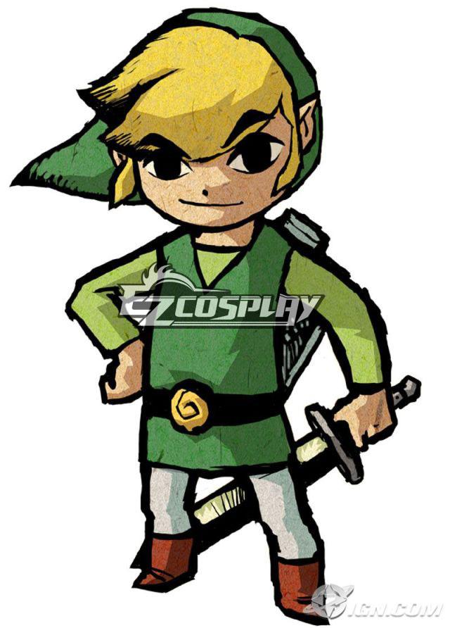 Image of The Legend of Zelda Windwaker Cartoon Zelda Cosplay Costume
