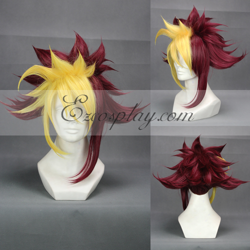 ZEXAL IV cosplay Yellow&Red Cosplay Wig-304A