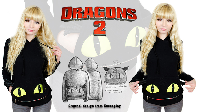 Cosplay how-to-train-your-dragon-2-cosplay-toothless-hoodie sale